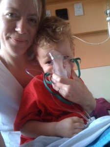 Liam in hospital