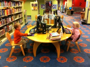 The Grand Rapids Public Library...can we stay here all day, Daddy?
