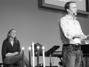 Speaking at New Life Christian Fellowship two weeks ago, the church planted by Andy's grandfather in the 1960's.