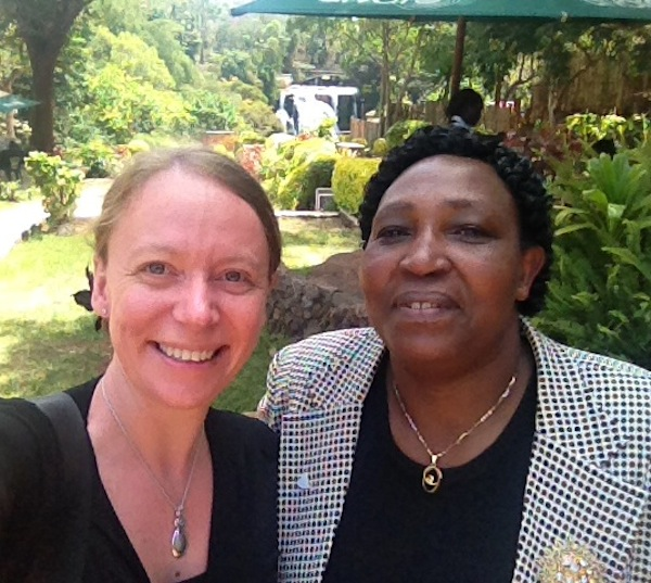Mardi and Mary, the Executive Director of Kijabe Hospital during a visit to the new government health heads.  The Government of Kenya, following major constitutional reform in 2010, devolved most Government functions to the County level, including health.  Kijabe Hospital, although a 'private' non-for-profit mission hospital, plays an important role in Kenya's overall health care strategy and so the Hospital works to maintain good relationships with the Ministry of Health stakeholders