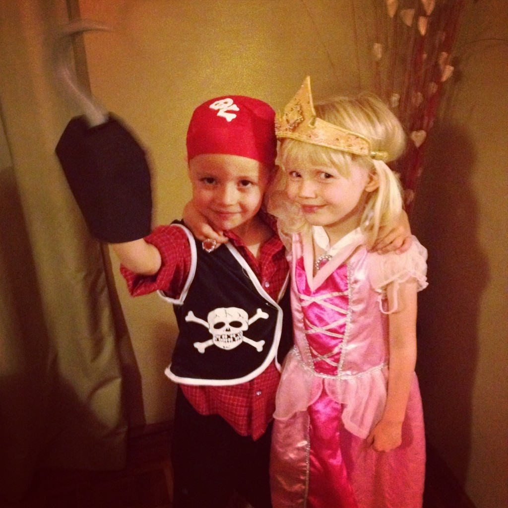 Best friends.  And good thing, because Liam is a fearsome pirate.