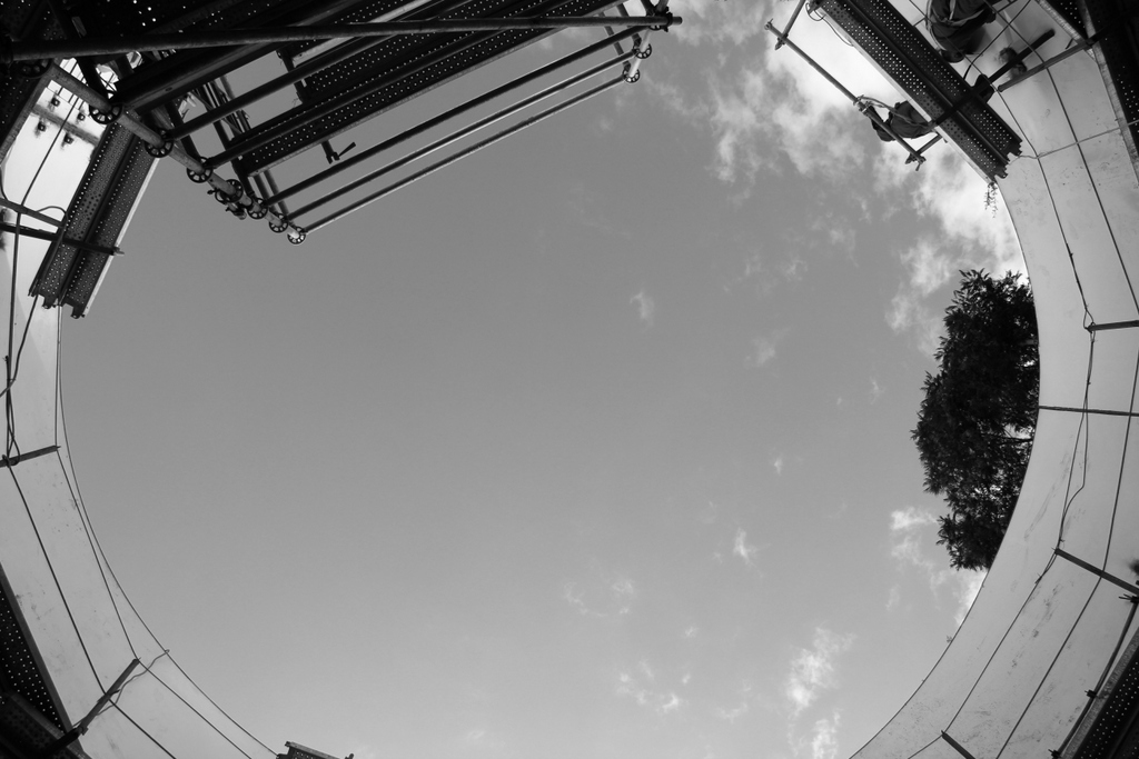 Skyward, inside the tank