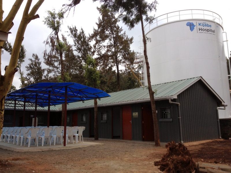 Half of our new TB clinic, with the tank looming behind.