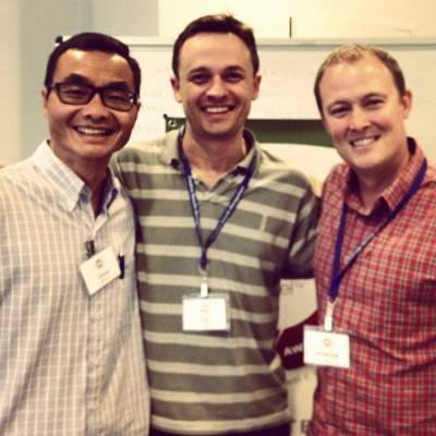 With friends Omar and Alan, SIM Australia Executive Director and South Australia State Ministry Director--fellow course attendees!