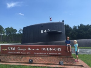 The kids' first visit to Daddy's submarine base in Kings Bay, GA.