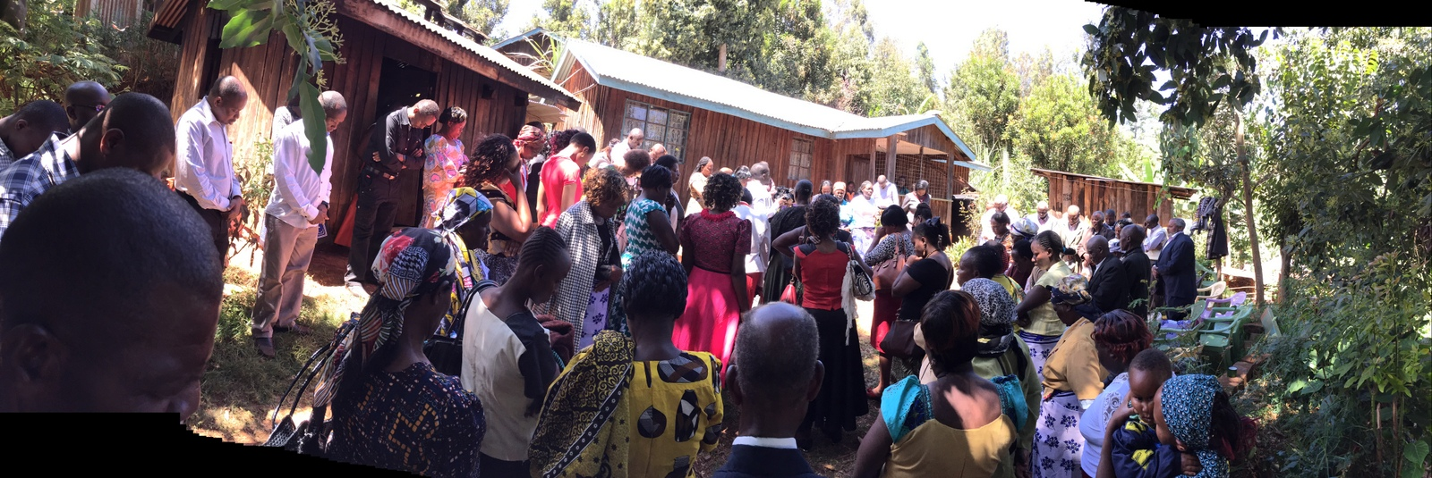 The arriving party of Shammah's family and friends is welcomed with song by the family and friends of the fiancée. The proposed marriage is inter-tribal (a Kamba marrying into a Kikuyu family), and so the ceremony and pageantry was deliberate and scripted.  It was a beautiful ceremony.