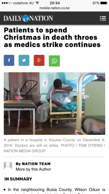 One of the few news articles about the strike.