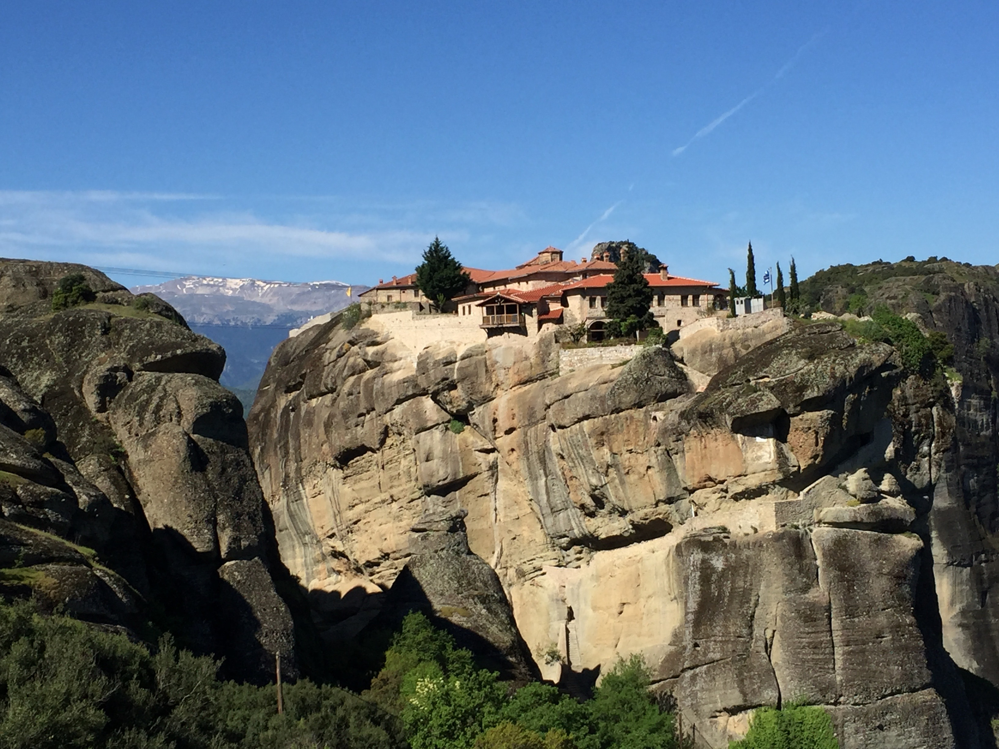 Meteora, location of six still-active Greek Orthodox monasteries dating from the 9th century.